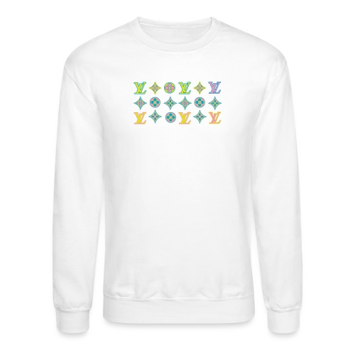 custom coloured LV pattern. - Crewneck Sweatshirt
