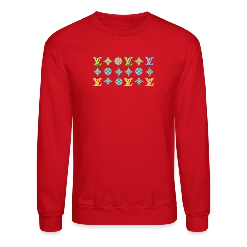 custom coloured LV pattern. - Crewneck Sweatshirt