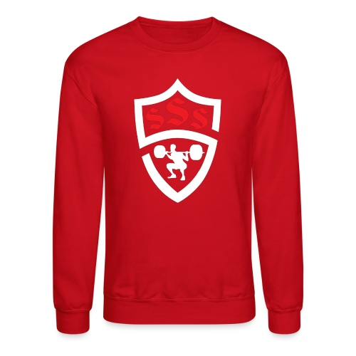 Logo Only White and Red - Crewneck Sweatshirt
