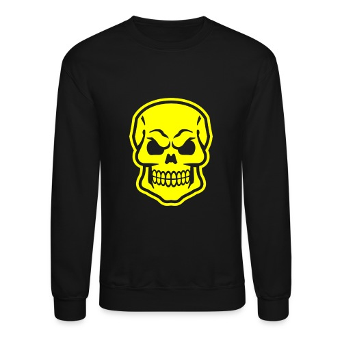 Skull vector yellow - Unisex Crewneck Sweatshirt
