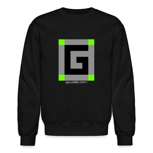 Guude Logo with White Text - Unisex Crewneck Sweatshirt