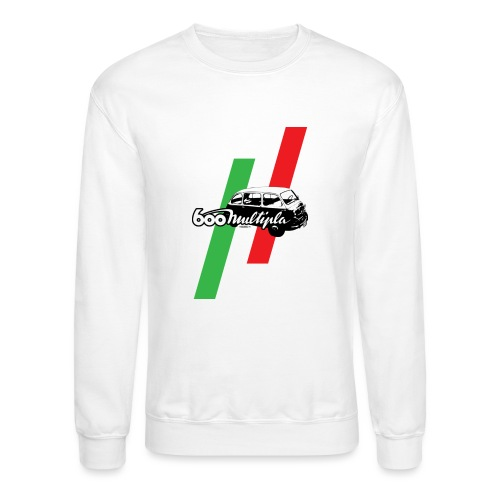 Fiat 600 Multipla script and illustration - - Crewneck Sweatshirt