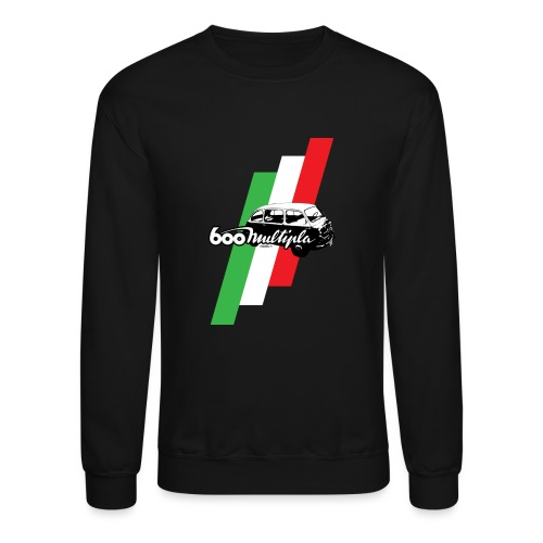 Fiat 600 Multipla script and illustration - - Crewneck Sweatshirt