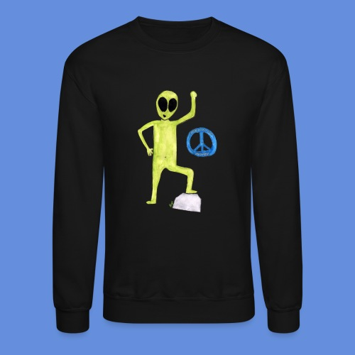 Peace and love Alien - Crewneck Sweatshirt