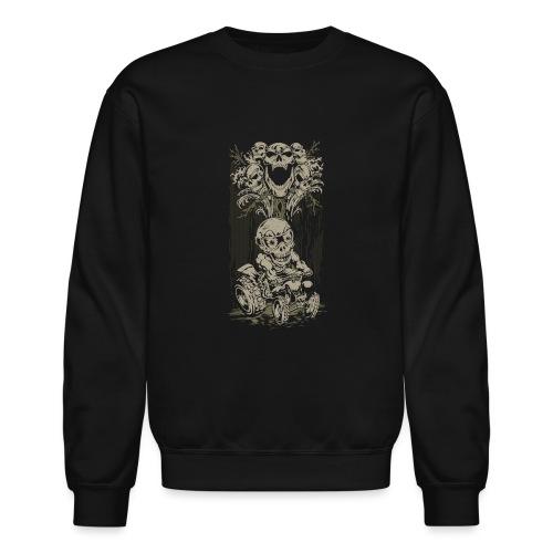ATV Skully Skull Tree - Crewneck Sweatshirt