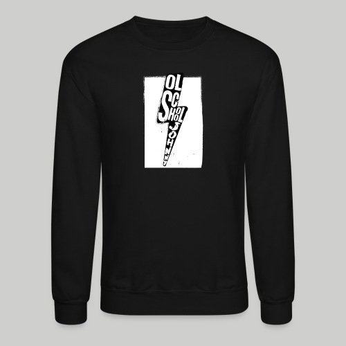 Ol' School Johnny Black and White Lightning Bolt - Unisex Crewneck Sweatshirt