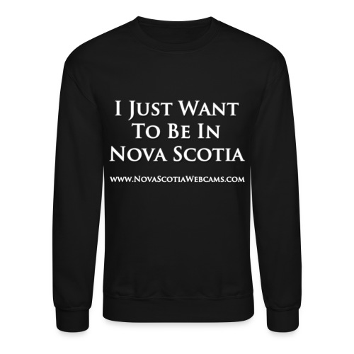 i just want to be in ns white - Crewneck Sweatshirt