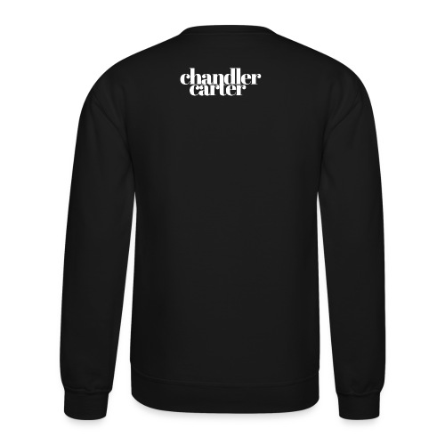 Chandler Carter Logo - White - Unisex Crewneck Sweatshirt