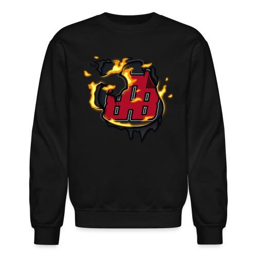 BAB Logo on FIRE! - Unisex Crewneck Sweatshirt