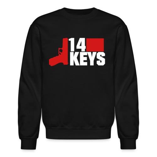 14 keys 2 colour logo - Unisex Crewneck Sweatshirt