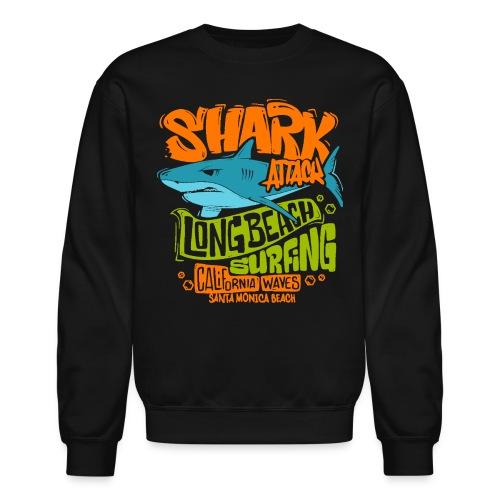 shark surf surfing california - Unisex Crewneck Sweatshirt
