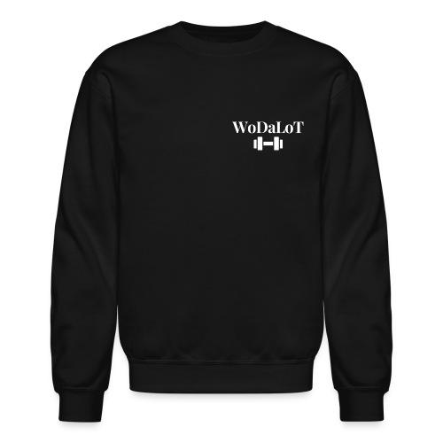 WoDaLoT white logo - Unisex Crewneck Sweatshirt