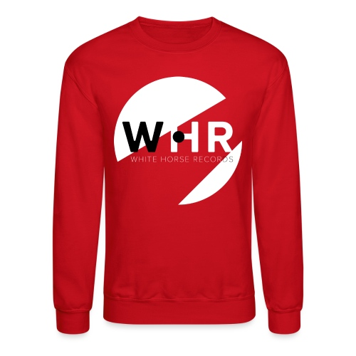 White Horse Records Logo - Black - Unisex Crewneck Sweatshirt
