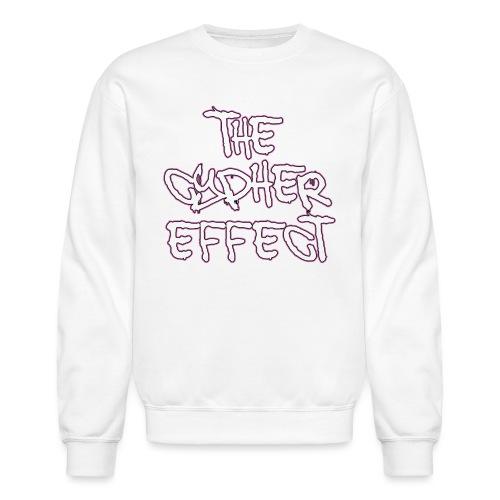 pink outline tce2 png - Unisex Crewneck Sweatshirt