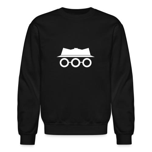 Solid White Somewhat Incognito Logo - Unisex Crewneck Sweatshirt