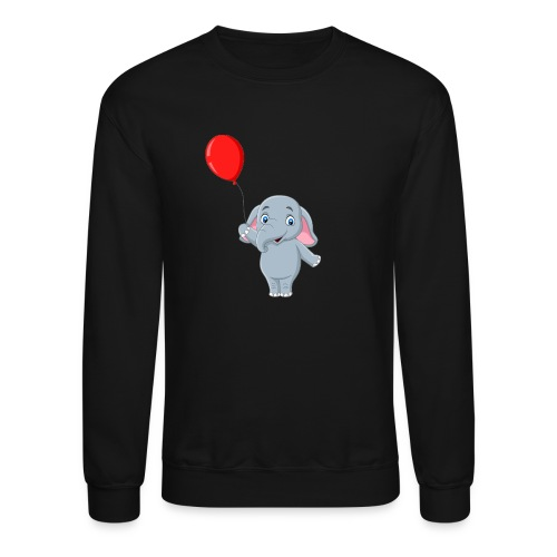 Baby Elephant Holding A Balloon - Unisex Crewneck Sweatshirt