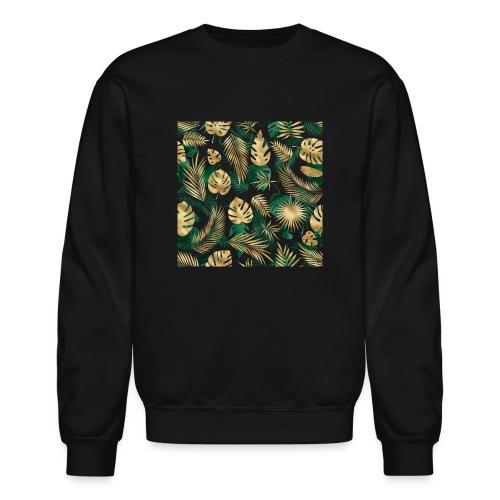 leaf overlay 1 - Unisex Crewneck Sweatshirt