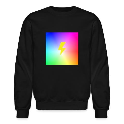 Rainbow lightning t-shirt - Unisex Crewneck Sweatshirt