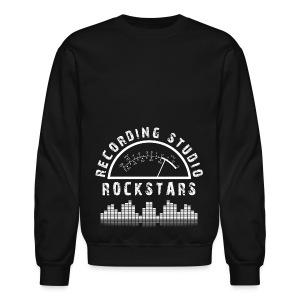Recording Studio Rockstars - White Logo - Crewneck Sweatshirt