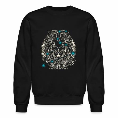 LEO Zodiac Constellation with Celtic Ring - Crewneck Sweatshirt