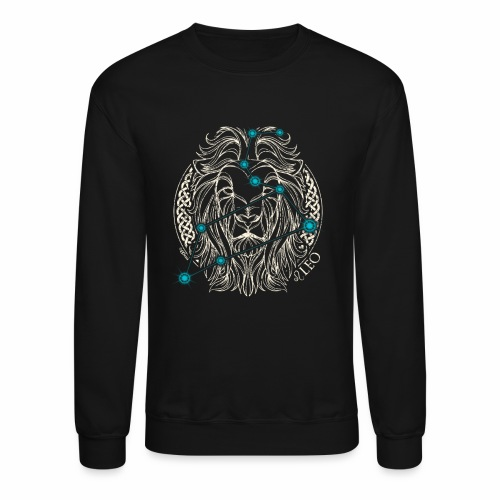 LEO Zodiac Constellation with Celtic Ring - Crewneck Sweatshirt