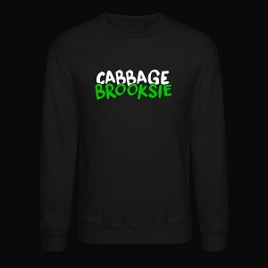 cabbagebrooksie logo v2 - Crewneck Sweatshirt