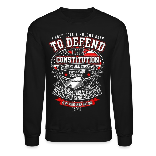 Veteran T-Shirt For Mens Veteran T-Shirt - Crewneck Sweatshirt