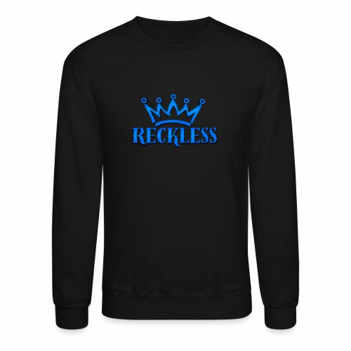 3d baby blue Reckless - Crewneck Sweatshirt