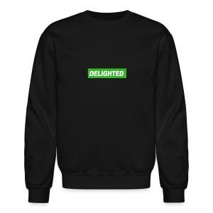 Delighted Logo on Black Sweatshirt - Crewneck Sweatshirt