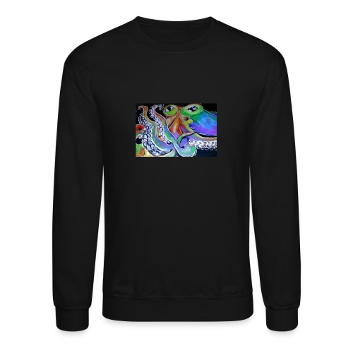 rainbow octopus - Crewneck Sweatshirt