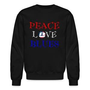 Peace, Love and Blues - Crewneck Sweatshirt