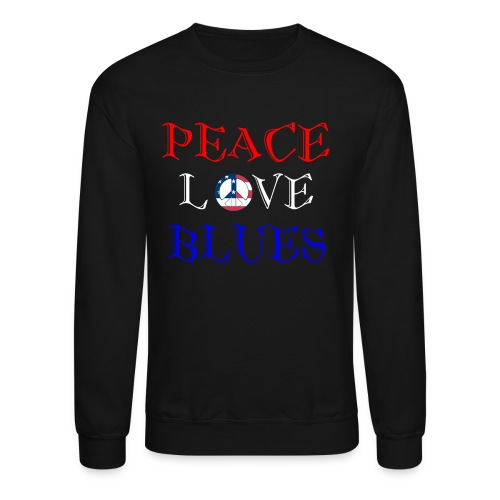 Peace, Love and Blues - Crewneck Sweatshirt