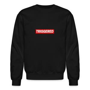 Triggered Logo on Black Sweatshirt - Crewneck Sweatshirt