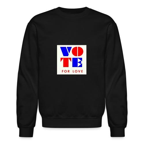 vote4love-sample - Crewneck Sweatshirt