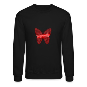 BUTTERFLY WORD RED - Crewneck Sweatshirt