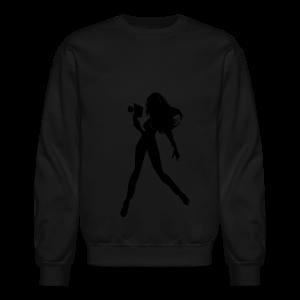 Large Girl Director Silhouette - Crewneck Sweatshirt