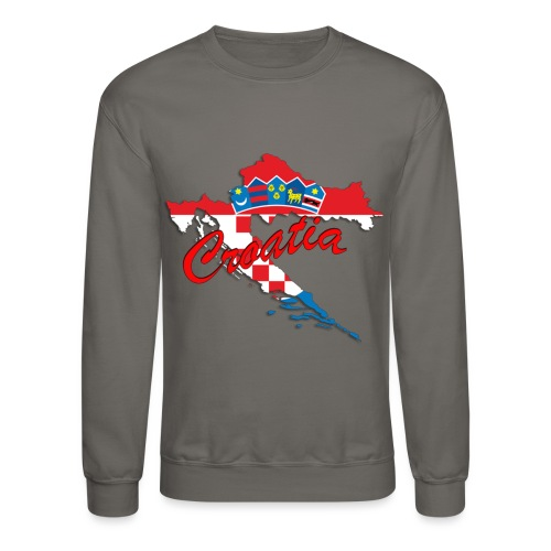 Croatia Football Team Colours T-Shirt Treasure Des - Crewneck Sweatshirt