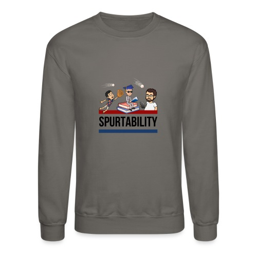 Spurtability Black Text - Unisex Crewneck Sweatshirt