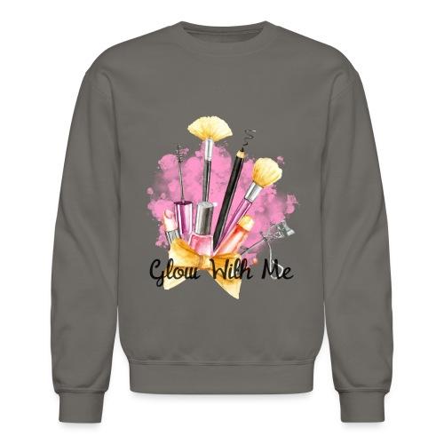 Glow With Me Makeup Logo - Crewneck Sweatshirt