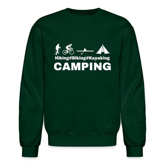 hiking biking kayaking and camping