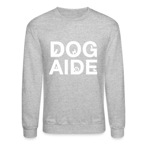 dog aide NEW white - Unisex Crewneck Sweatshirt