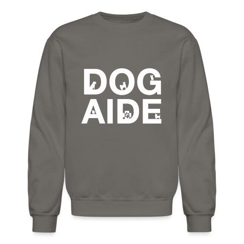 dog aide NEW white - Crewneck Sweatshirt