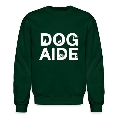 dog aide NEW white - Unisex Crewneck Sweatshirt