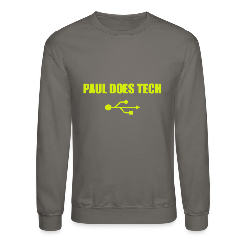 Paul Does Tech Yellow Logo With USB (MERCH) - Crewneck Sweatshirt