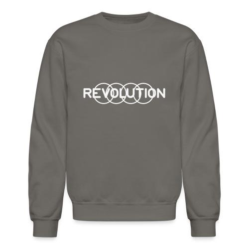 White Revolution Logo - Unisex Crewneck Sweatshirt