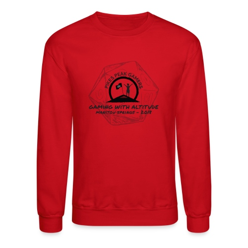 Pikes Peak Gamers Convention 2018 - Clothing - Crewneck Sweatshirt