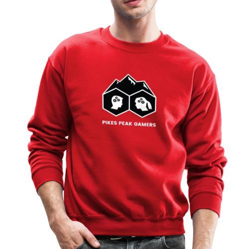 Pikes Peak Gamers Logo (Solid Black) - Crewneck Sweatshirt