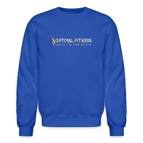 white logo, keep calm and hiit it white - Crewneck Sweatshirt
