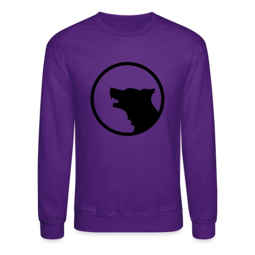 Wolf Silhouette Vector - Crewneck Sweatshirt