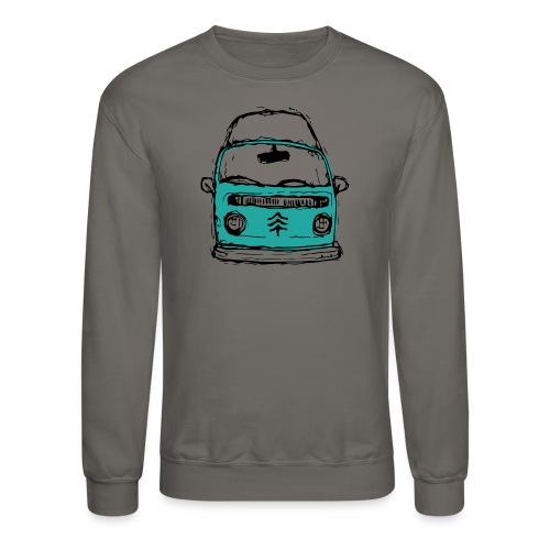 Living The Life In A Hippie Bus - Unisex Crewneck Sweatshirt